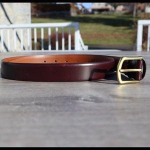 Men's Wearhouse genuine leather belt brass